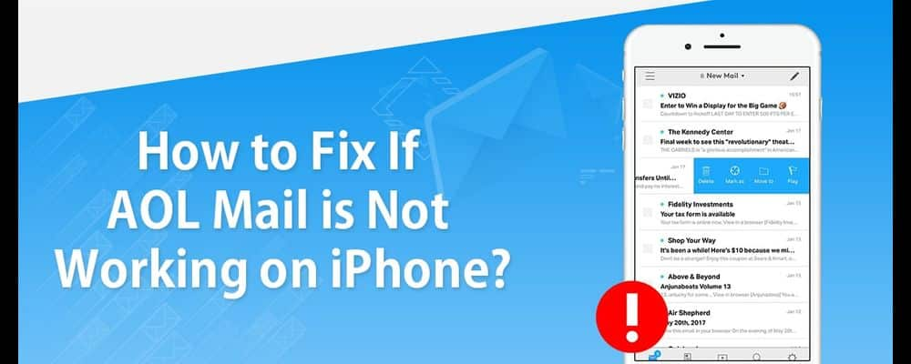How to Fix If AOL Mail is not working on iPhone? Aol Help